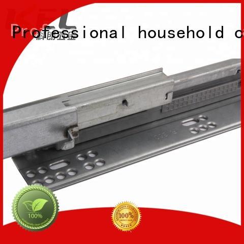 KEL 3-fold soft close heavy duty concealed telescopic kitchen cabinet drawer slide rail machinery