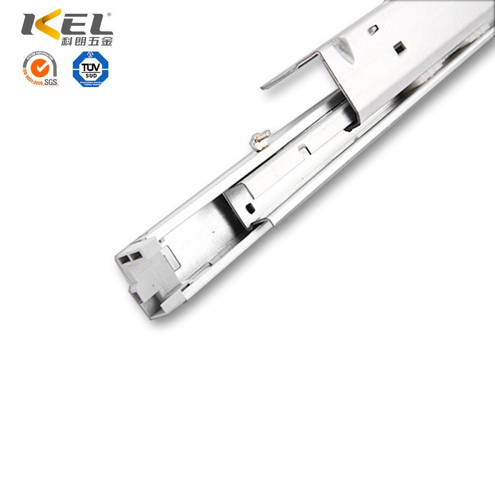 Full extension heavy duty vertical telescopic drawer slide rail bottom mounting drawer rails