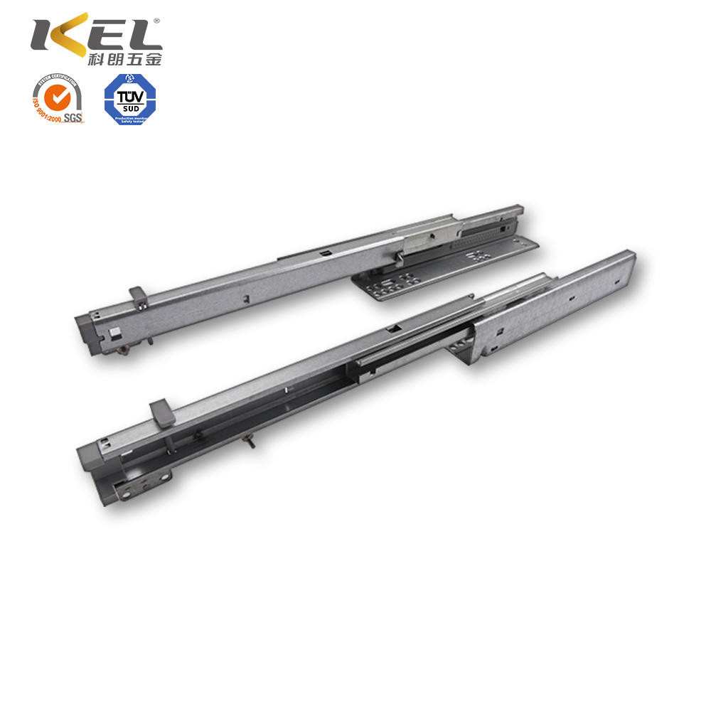 Full extension heavy duty vertical telescopic drawer slide rail bottom mounting drawer rails