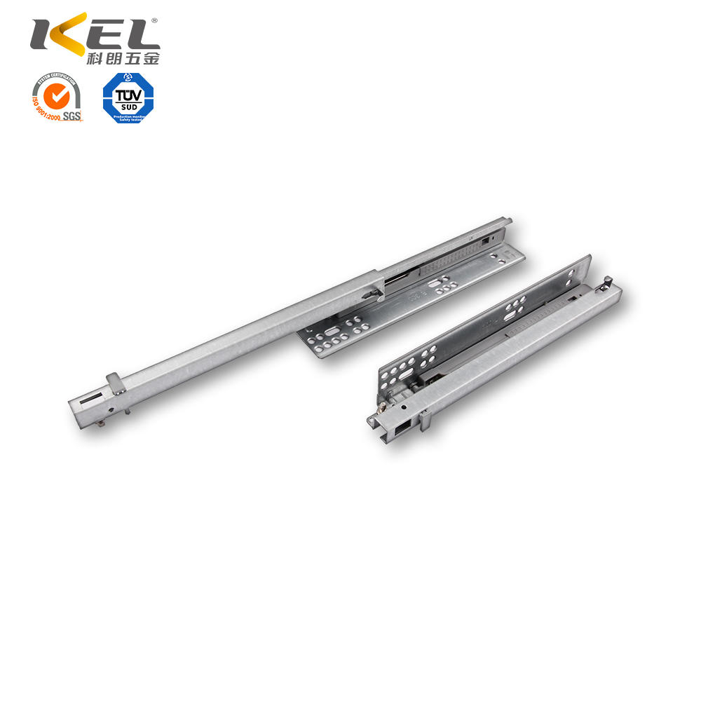 Galvanized soft close concealed telescopic kitchen cabinet drawer slide rail