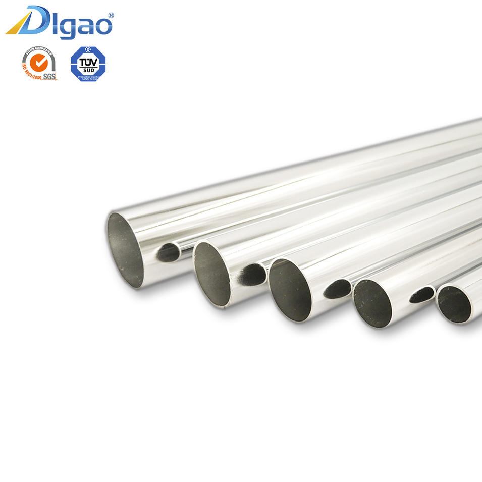 Digao Furniture fittings Chrome Plated Hard Steel Wardrobe Oval Pipe Iron Tube