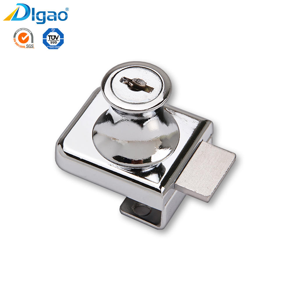 Digao 407 Zinc Alloy Furniture Showcase Single Swing Cabinet Glass Door Lock