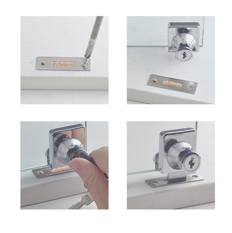 DIgao durable glass display cabinet locks for wholesale kitchen double door lock