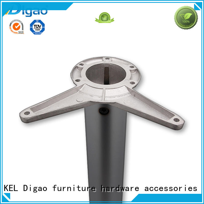 Digao Chrome Metal Iron Height Adjustable Leg Furniture Office Conference Desk Table Leg