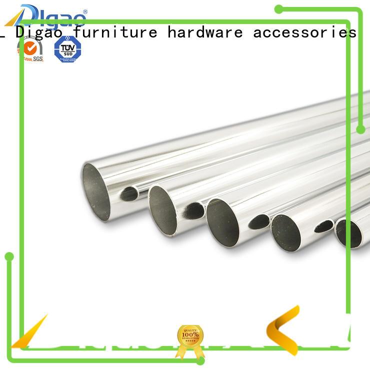 Digao Furniture fittings Chrome Plated Hard Steel Wardrobe Oval Pipe Iron Tube