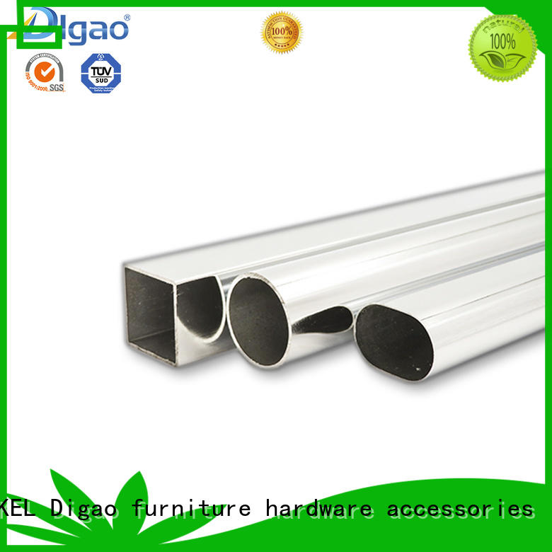 DIgao clothes wardrobe pole for wholesale Chrome Plated Furniture