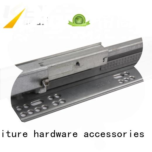 KEL 2 fold drawer track soft closing cabinet hidden telescopic ball channel concealed drawer rails
