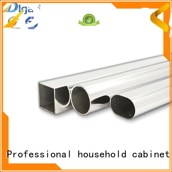 Chrom hollow steel round pipe galvanized closet rounded square iron pipe wardrobe hanging tube