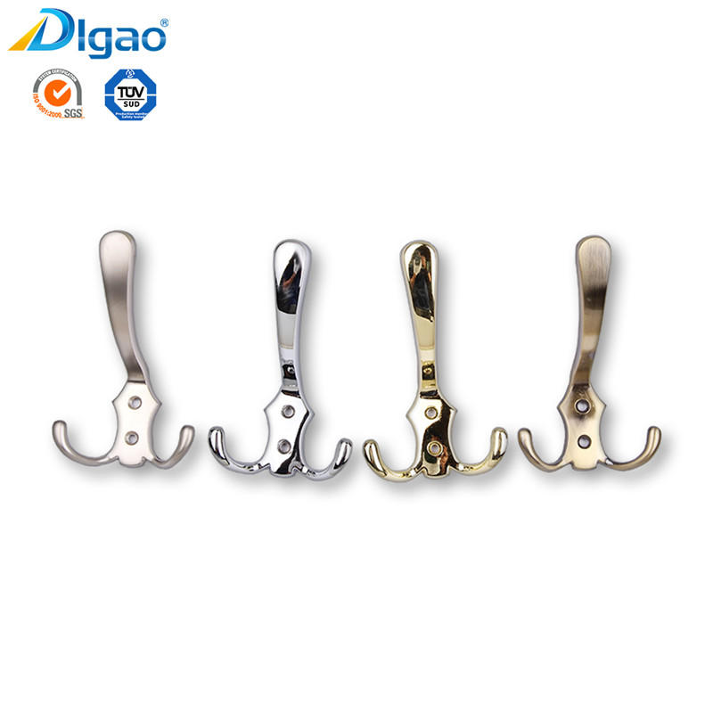 Fancy Zinc Alloy Metal Coat And Hat Wall Robe Clothes Hook