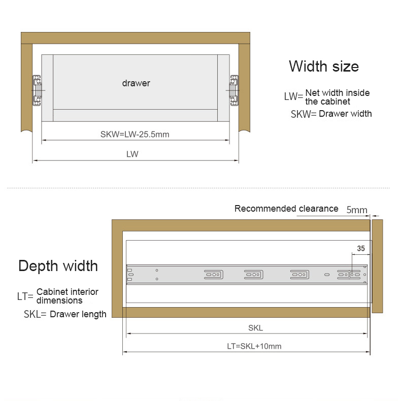 DIgao at discount under drawer slides slide for desk-5