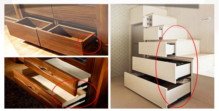 ball ball bearing drawer slides customization for furniture DIgao-1