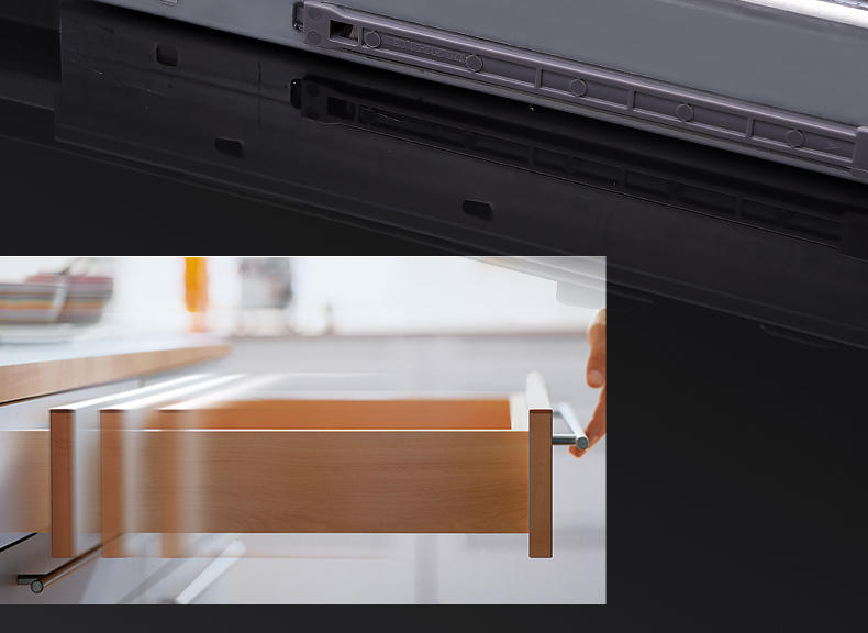 DIgao cabinet soft close drawer runners customization for kitchen