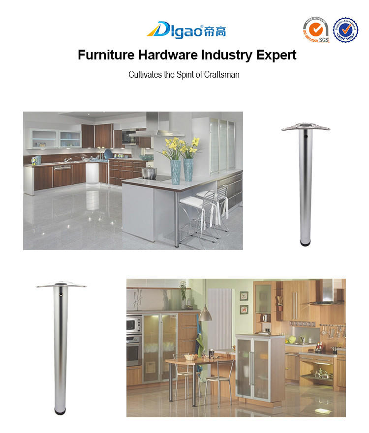 durable chrome table leg adjustable ODM table leg