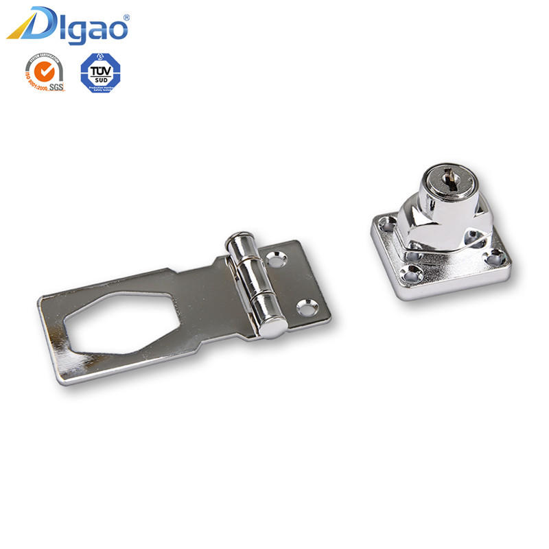 Evergood 207 Zinc Alloy Furniture Cabinet Door Safety Hasp Lock, Hasp And Staple Lock
