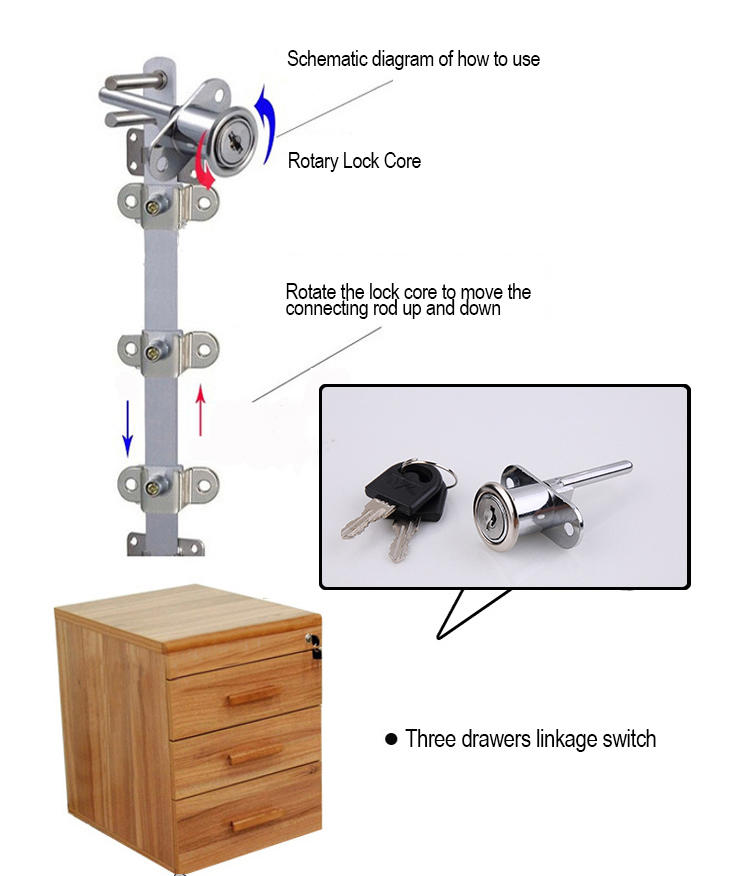 portable cabinet drawer locks door ODM for furniture