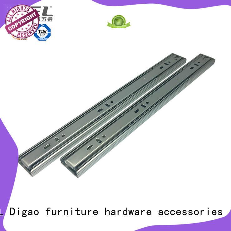 DIgao solid mesh roller drawer slides soft for table