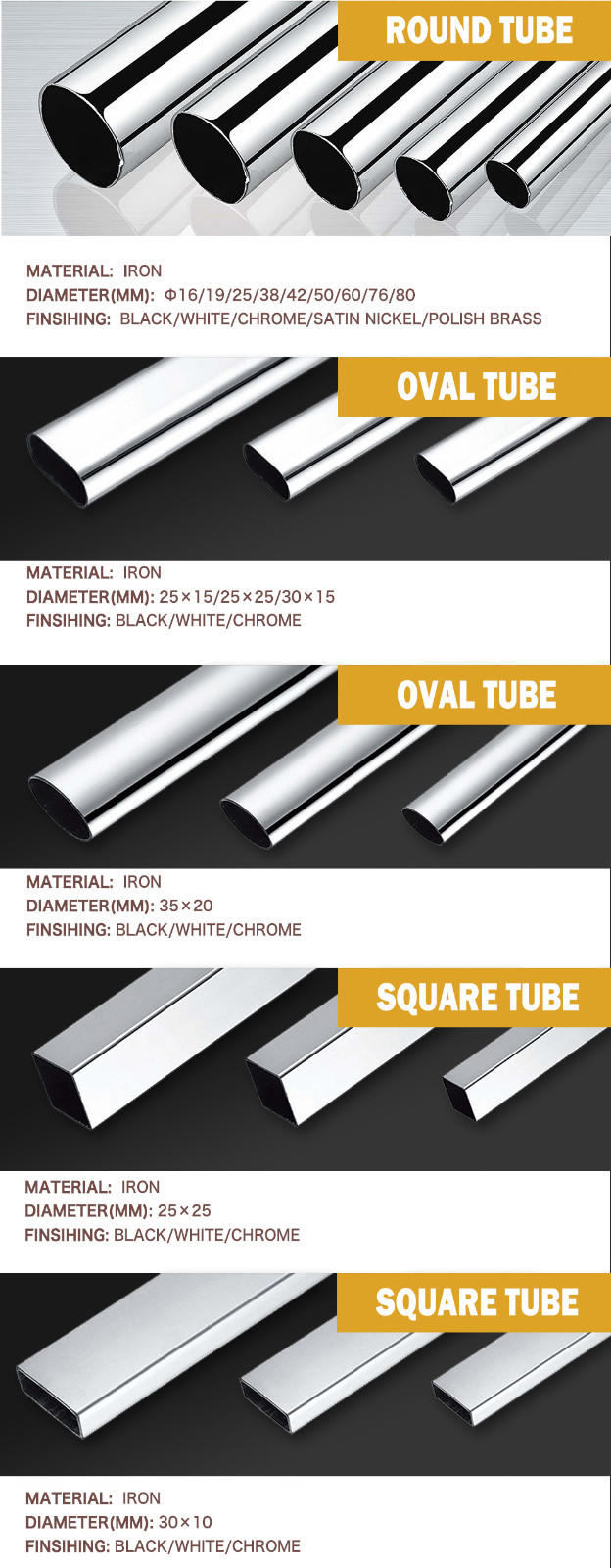 DIgao chrome wardrobe rail bulk production for wardrobe