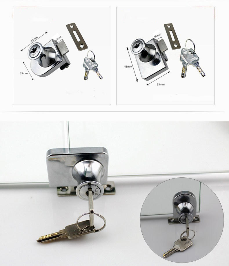 DIgao 407 showcase lock free sample glass door lock-3